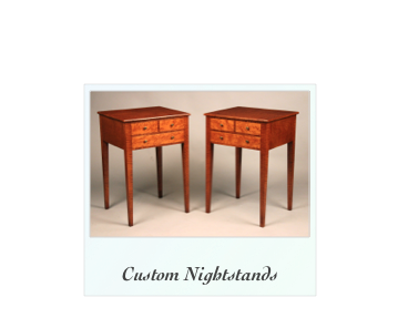 Reproduction NightstandsTiger Maple Birdseye Maple