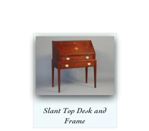 Slant Front Desk Antique Reproduction Slant Front Desk Queen Anne desk Chippendale Chest