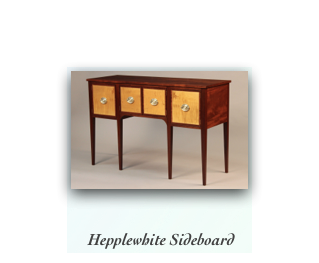 Hepplewhite Sideboard handmade of Mahogany