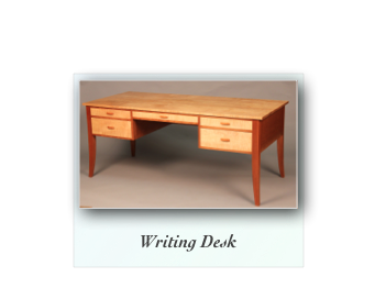 Writing Desk in Tiger Maple and Cherry