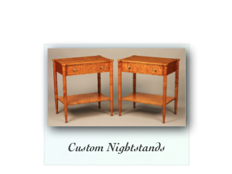 Tiger Maple Nightstands Curly Maple