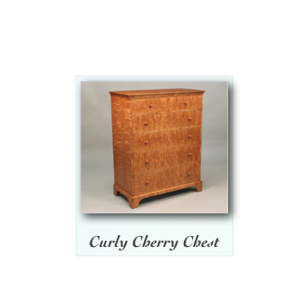 Curly Cherry Chest of Drawers