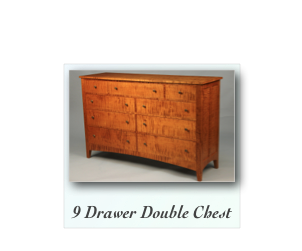 Tiger Maple Chest  Curly Maple double dresser