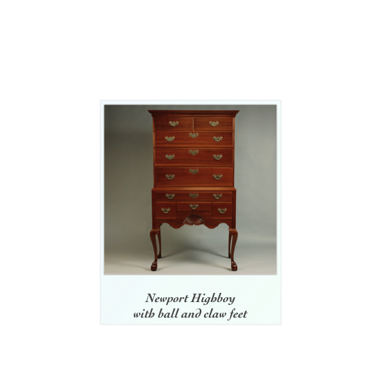 Chippendale Highboy High Chest Walnut Ball and Claw feet