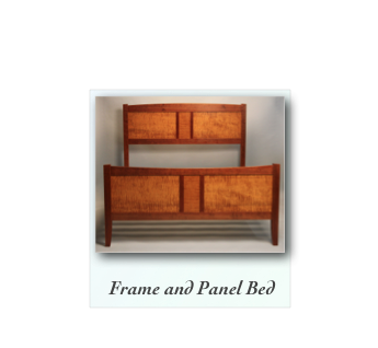 Frame and Panel Bed Cherry and Tiger Maple