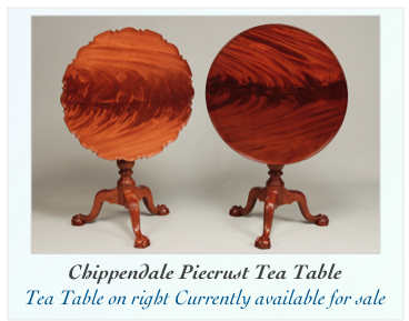 Reproduction Philladelphia Piecrust Tilt Top Table
