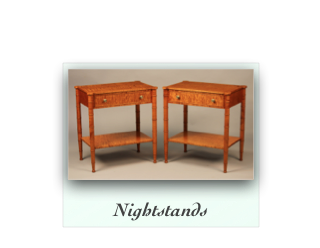 Handcrafted Nightstand with Shelf