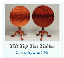 Handcrafted Tea Tables For Sale