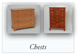 Handmade Custom Chest of Drawers made in NEw England