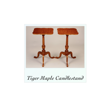 Tiger maple Candlestands