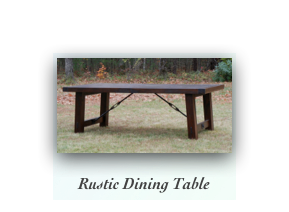 Rustic Walnut Dining Table handmade tables in new england